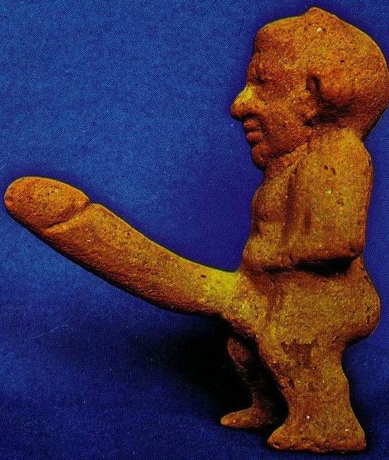 Statue avec gros pénis